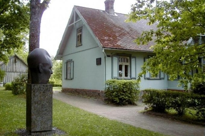 Wohnorte des Schriftstellers Andrejs Upits